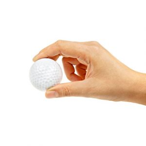 Golf ball, similar in size to a quarter cup portion size